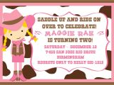 Cowgirl Party Invitation Wording Cowgirl Birthday Party Invitations – Bagvania Free