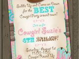 Cowgirl Party Invitation Wording Cowgirl Invitation Cowgirl Birthday Party Invitation
