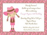 Cowgirl Party Invitation Wording Cowgirl Party Invitations Party Ideas
