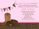 Cowgirl Party Invitation Wording Little Cowgirl Western Baby Shower Invitation
