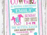 Cowgirl Party Invitation Wording Western Cowgirl Birthday Invitation