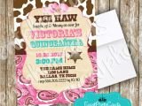 Cowgirl Quinceanera Invitations Girly Cowgirl Western Quinceanera Invitations Sweet
