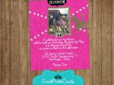 Cowgirl Quinceanera Invitations Pink Western Cowgirl Quinceanera Photo Invitations Sweet