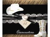 Cowgirl Quinceanera Invitations Quinceanera Rustic Burlap Cowgirl Hat Boots Party 5 25×5