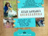 Cowgirl Quinceanera Invitations Teal Cowgirl Quinceanera Photo Invitations Sweet Fifteen