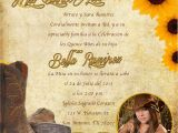 Cowgirl Quinceanera Invitations Western Invitations Printable Western theme Invitation