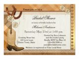 Cowgirl themed Bridal Shower Invitations Country Western Cowgirl Bridal Shower Invitation