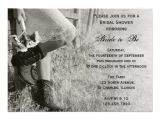 Cowgirl themed Bridal Shower Invitations Cowgirl and Sunflowers Country Bridal Shower 5×7 Paper