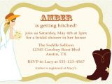 Cowgirl themed Bridal Shower Invitations Items Similar to Cowgirl Bridal Shower Invitation Western