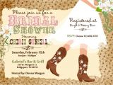 Cowgirl themed Bridal Shower Invitations Western Bridal Shower Invitations