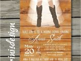 Cowgirl themed Bridal Shower Invitations Western Rustic Bridal Shower Invitation Country Cowgirl