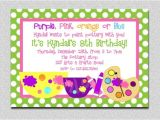 Craft Birthday Party Invitations Arts and Crafts Birthday Party Invitation Art Birthday