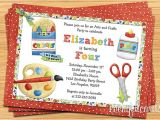 Craft Birthday Party Invitations Arts and Crafts Birthday Party Invitations Drevio