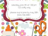 Craft Birthday Party Invitations Party Box Design Arts and Crafts Birthday Party