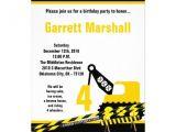 Crane Party Invitations 5×7 Construction Dozer Crane Birthday Invitation Zazzle