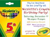 Crayola themed Party Invitations 1000 Images About Birthday Parties On Pinterest