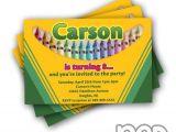 Crayola themed Party Invitations 12 Crayola Crayon Birthday Invitations