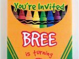 Crayola themed Party Invitations 19 Creative Crayola Crayon Party Ideas Spaceships and