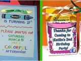 Crayola themed Party Invitations A Colorful Crayola Birthday Party Celebrations at Home