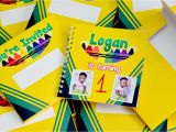 Crayola themed Party Invitations Logan 39 S Crayola themed 1st Birthday Party Crafts and Passion