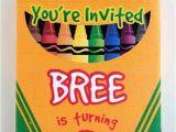 Crayon Birthday Party Invitations 19 Creative Crayola Crayon Party Ideas Spaceships and