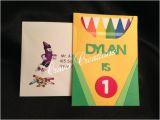 Crayon Birthday Party Invitations Crayon Birthday Invitation