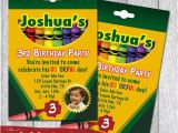 Crayon Birthday Party Invitations Crayon Box Printable Party Invitations by Redvelvetparties