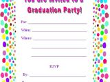 Create Your Own Graduation Party Invitations Free Printable Graduation Party Invites