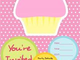 Cupcake Party Invitation Template Free 5 Best Images Of Cupcake Birthday Party Invitations