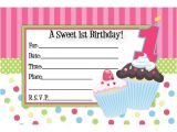Cupcake Party Invitation Template Free Cupcake Birthday Invitations Template Bagvania Free