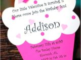 Cupcake Party Invitation Wording A Simple Favor Custom Valentine Birthday Invitations