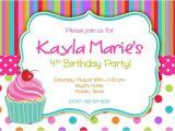 Cupcake Party Invitation Wording Birthday Invitation Templates Cupcake Birthday Invitations