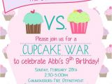 Cupcake Wars Birthday Party Invitations Cupcake War Birthday Invitation Cupcake Wars