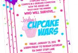 Cupcake Wars Birthday Party Invitations Cupcake Wars Baking Party Invitation Printed by Sweet by