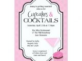Cupcakes and Cocktails Bridal Shower Invitations Bridal Shower Cupcakes and Cocktails 5×7 Paper Invitation