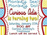 Curious George 2nd Birthday Invitations 25 Best Ideas About Curious George Party On Pinterest