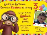 Curious George Birthday Invitation Template 17 Best Images About Party Curious George On Pinterest