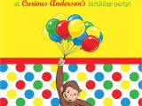 Curious George Birthday Invitation Template Birthday Party Invitations Incredible Curious George