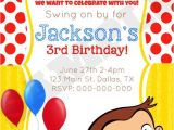 Curious George Birthday Invitation Template Curious George Birthday Invitation by Kaitlinskardsnmore