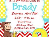 Curious George Birthday Invitation Template Curious George Birthday Invitation by Whitetulippaperie On