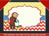 Curious George Birthday Invitation Template Curious George Blank Invitation Birthday Thank You Note