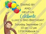 Curious George Birthday Invitation Template Curious George Invitation Party Ideas
