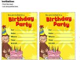 Curious George Birthday Invitation Template Curious George Invitation Template – orderecigsjuicefo