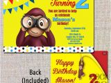 Curious George Birthday Invitation Template Curious George Party Invitations – Gangcraft