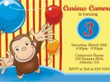Curious George Birthday Invitation Template Curious George Party Invitations