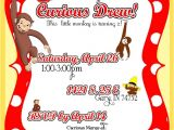 Curious George Birthday Invitation Template Free Curious George Invitations Templates