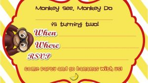Curious George Birthday Invitation Template Mrs This and that Curious George Birthday Party