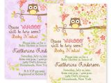 Custom Baby Shower Invitations Online Owls Autumn Fall Owl Baby Shower Bridal Shower Invitations