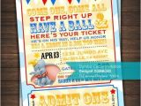 Custom Birthday Invitations Walgreens Dumbo Circus Baby Shower Birthday Invitation