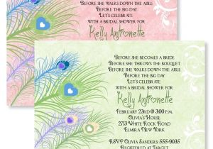 Custom Bridal Shower Invitations Online Peacock Personalized Bridal Shower Invitations Wedding